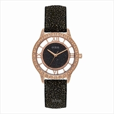 Guess W1014L1 Women Ethereal Black Leather Strap Watch