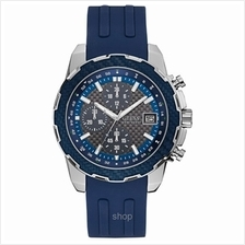 Guess W1047G2 Men Octane Chronograph Blue Silicone Strap Watch