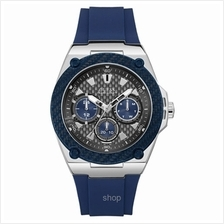 Guess W1049G1 Men Legacy Multifunction Blue Silicone Strap Watch