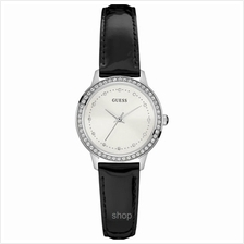 Guess W0648L7 Women Chelsea Black Leather Strap Watch