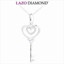 Lazo Diamond Beetling Happiness Key 9K Diamond Pendant - DPC071