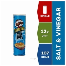 Pringles Snack Salt  & Vinegar 107g x 12 units)