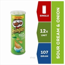 Pringles Snack Sour Cream  & Onion 107g x 12 units)