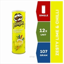 Pringles Snack Zesty Lime Chilli 107g x 12 units)