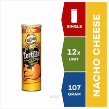 Pringles Tortilla Nacho Cheese 107g x 12 units)
