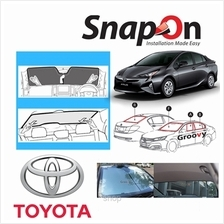 Groovy Toyota HB SNAP-ON Car Sunshades - R Row