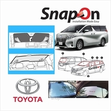 Groovy Toyota MPV SNAP-ON Car Sunshades - F Row