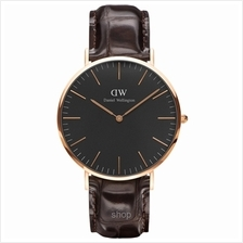 Daniel Wellington Classic Black York 40mm Men Watch Rose Gold - 15-DW00100128)