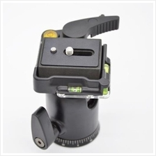 QB - 1 HEAVY DUTY BALL HEAD WITH QUICK RELEASE PLATE FOR MONOPOD TRIPO