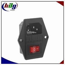 10A 250V 3 Pin IEC320 C14 AC Inlet Male Plug Power Socket