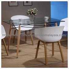 Modern Dining Table With Glass Top YGCDT-11102DTL1380CLT Setapak KL