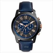 Fossil FS5061 Men Grant Chronograph Blue Leather Watch)