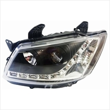 PROTON SAGA BLM SE LED Starline DRL Projector Head Lamp (Black Housing