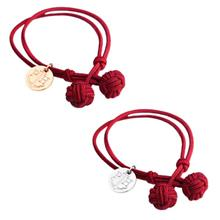 PAUL HEWITT Knotbracelet IP Gold&Silver Nylon Red)