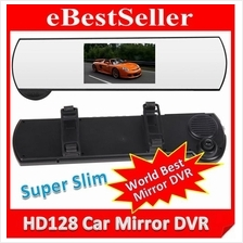 Slim HD Car DVR + Rear View Mirror CCTV LCD Video Camera Recorder SOS