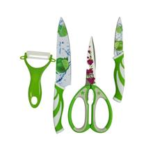 4 Pcs Kitchen Set With Knife/Scissor/Peeler