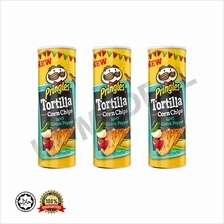 Pringles Tortilla Corn Chips Spicy Green Pepper / 3 Set combo package