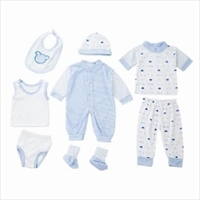 8PCS HAN EDITION STYLISH STRIPE DOT NEWBORN BABIES CLOTHES (02#)