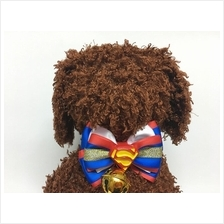 Small Dog Bowtie / Cat Bowtie - Super Man Design