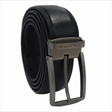 Orlando Men Pin Buckle Leather Belt Black Size 132cm (RL02019B172)