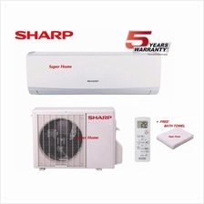 Sharp 1.0hp Air Conditioner AHA9UCD & AUA9UCD(R410a) + Free Bath Towel