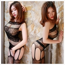 Black Sexy. Open Crotch Body Stocking W057