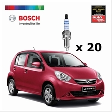[Set of 20] Bosch Platinum Spark Plug for Proton Wira 1.6 / Perodua Myvi 1.3 -)