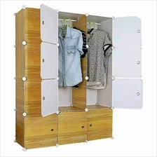 Tupper Cabinet 12 Cubes Brown Wood Design DIY Wardrobe