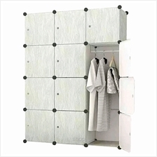 Tupper Cabinet DIY 12 Cubes Wardrobe Grey Wood Design