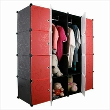 Tupper Cabinet DIY Wardrobe 16 Cubes Black Stripes