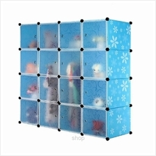 Tupper Cabinet DIY 16 Cubes Wardrobe Blue Flower