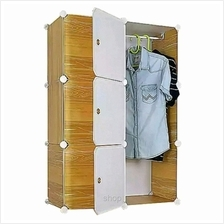 Tupper Cabinet 6 Cubes Brown Wood Design DIY Wardrobe