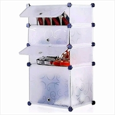 Tupper Cabinet 4 Tier 4 Cubes White Stripes DIY Shoe Rack