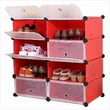 Tupper Cabinet 4 Tier 8 Cubes Red Stripes DIY Shoe Rack