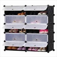 Tupper Cabinet 5 Tier 10 Cubes DIY Shoe Rack Black Stripes