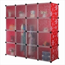Tupper Cabinet 16 Cubes DIY Wardrobe Red Stripes