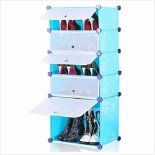Tupper Cabinet 5 Tier 5 Cubes Blue Flower DIY Shoe Rack
