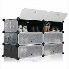 Tupper Cabinet 3 Tier 6 Cubes Black Stripes DIY Shoe Rack