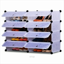 Tupper Cabinet 4 Tier 8 Cubes White Stripes DIY Shoe Rack