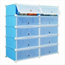 Tupper Cabinet 5 Tier 10 Cubes DIY Shoe Rack Sky Blue