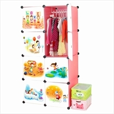 Tupper Cabinet 8 Cubes Pink Color DIY Cartoon Wardrobe