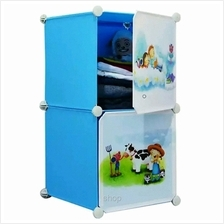 Tupper Cabinet 2 Cubes Sky Blue DIY Cartoon Storage