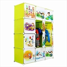 Tupper Cabinet 12 Cubes Fruit Green DIY Cartoon Wardrobe