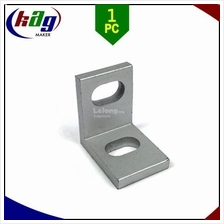 Single Universal L Bracket 20x20x14.5 6105-T5 Aluminium Alloy Clear