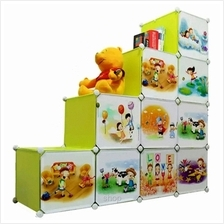 Tupper Cabinet 10 Cubes DIY Fruit Green Cartoon L-Shape Storage Cabinet
