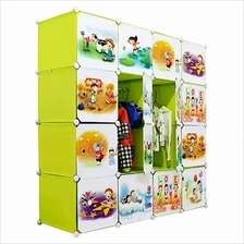 Tupper Cabinet 16 Cubes Doors Fruit Green DIY Cartoon Wardrobe
