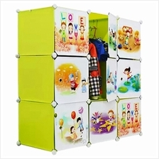 Tupper Cabinet 9 Cubes Fruit Green DIY Cartoon Wardrobe