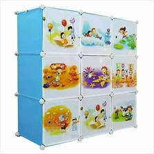Tupper Cabinet 9 Cubes DIY Sky Blue Cartoon Cabinet