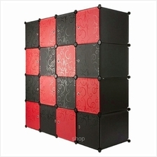 Tupper Cabinet 16 Cubes Mix Red Stripes Doors Black Stripes DIY Cabinet