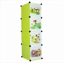 Tupper Cabinet 4 Cubes Straight Fruit Green Cartoon DIY Storage Cabinet